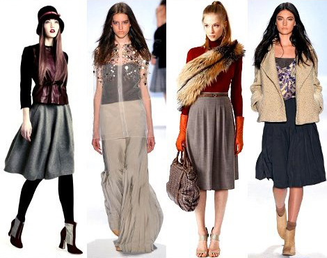 Модные юбки осень зима 2011 2012 ивона